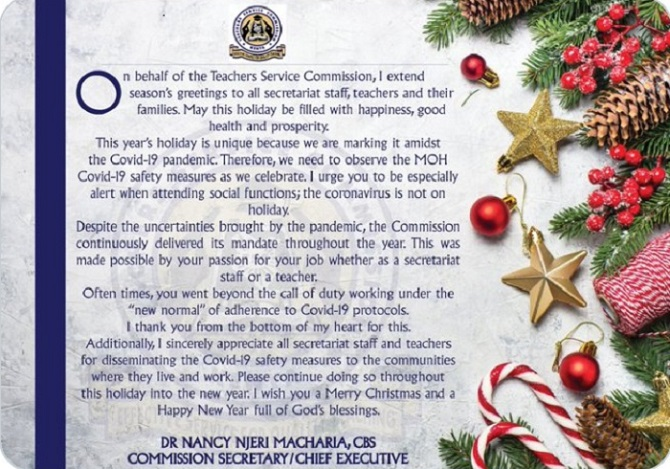 Teachers' Furious Reactions Towards Nancy Macharia's Christmas 2020 Gift To Them