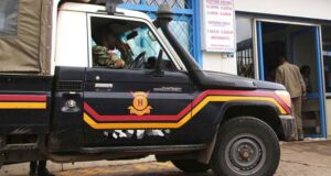 Police Vehicle Causes a Road Accident While over speeding with Kenyans who Lacked Masks