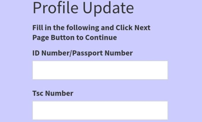 How to update your TSC Teacher profile online