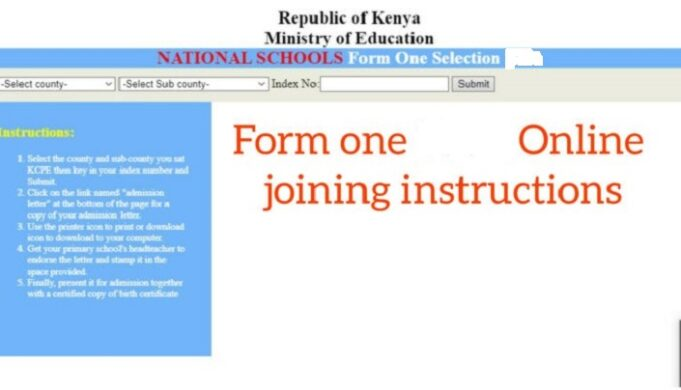 How to download form one 2021 admission letter