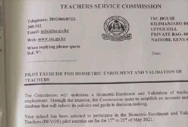 Biometric Enrollment and Validation of teachers to begin next week-Required documents