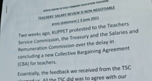 KUPPET's Press Statement Diminishes Teachers Hopes on the Much-Expected July Salary Review