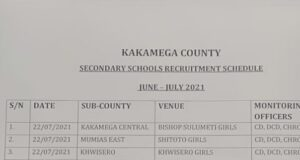 TSC July Recruitment 2021 Interview Schedules-Dates and Venues Per county