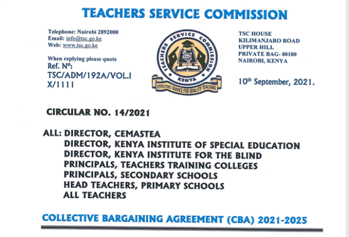 TSC Seals Teachers' Hopes Foe Salary Increment For The Next Four Years