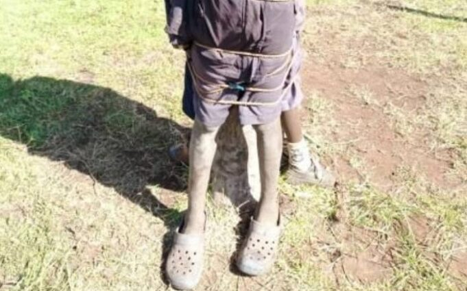 Nyahururu Teachers To Face The DCI Over Photo Of Pupils Tied To A Tree